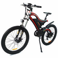 Electric Mountain Bike Addmotor HITHOT H5 500W High Fork Full Suspension