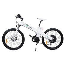 Electric Mountain Bike Ecotric Seagull with Front Suspension 1000W - White - electric bike
