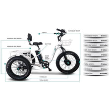 EMOJO Caddy PRO Electric Tricycle White 48V 500W - electric bike