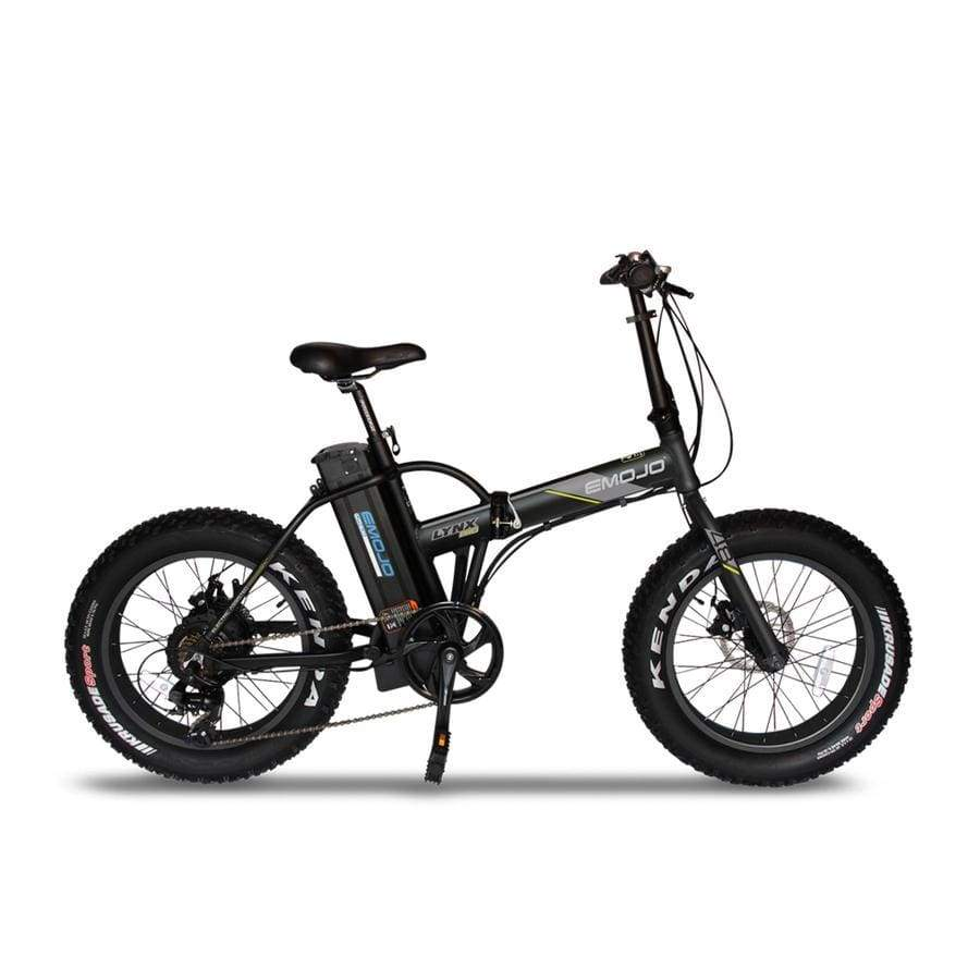 Folding Electric Bike Emojo Lynx Pro 500 Watt 48 V- Fat Tire Bike - Black / Basic - Electric Bike $1429.00