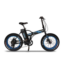 Folding Electric Bike Emojo Lynx Pro 500 Watt 48 V- Fat Tire Bike - Black/blue / Basic - Electric Bike $1429.00