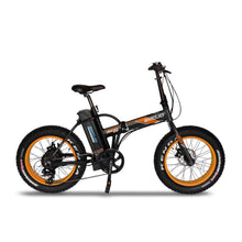 Folding Electric Bike Emojo Lynx Pro 500 Watt 48 V- Fat Tire Bike - Black/orange / Basic - Electric Bike $1429.00