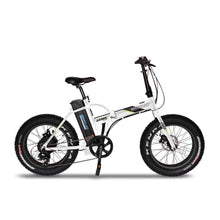 Folding Electric Bike Emojo Lynx Pro 500 Watt 48 V- Fat Tire Bike - White / Basic - Electric Bike $1429.00