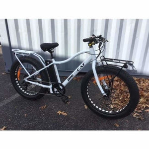 Fat Tire Electric Bike BIG CAT Fat Cat XL 500W (New 2019) - Cadillac Pearl White Frame / Black Wheels (Limited Edition) - electric bike