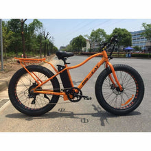 Fat Tire Electric Bike BIG CAT Fat Cat XL 500W (New 2019) - Metallic Burnt Orange Frame / Black Wheels (Limited Edition) - electric bike