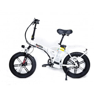 Fat Tire Folding Electric Bike GreenBike Big Dog Extreme 48V 750W - White - electric bike