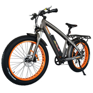 Fat Tires Electric Bike Addmotor MOTAN M-560 P7 750W Front Suspension - Orang / Black - electric bike
