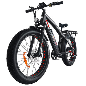 Fat Tires Electric Bike Addmotor MOTAN M-560 P7 750W Front Suspension - Red / Black - electric bike