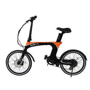 Folding Electric Bike Green Bike USA - GB Carbon Light - 350W 10.5Ah - Black / Orange - electric bike