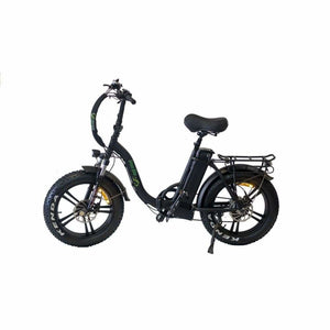 Folding Electric Bike Green Bike USA - GB LOW STEP 500W 18.2 Ah - Black - electric bike
