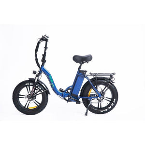 Folding Electric Bike Green Bike USA - GB LOW STEP FAT TIRE 750W 15.6 Ah - electric bike