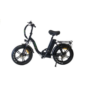 Folding Electric Bike Green Bike USA - GB LOW STEP FAT TIRE 750W 15.6 Ah - Black - electric bike
