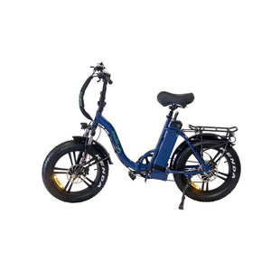 Folding Electric Bike Green Bike USA - GB LOW STEP FAT TIRE 750W 15.6 Ah - Blue - electric bike