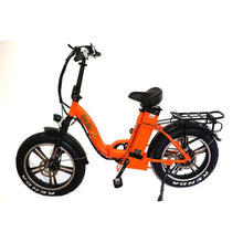 Folding Electric Bike Green Bike USA - GB LOW STEP FAT TIRE 750W 15.6 Ah - Orange - electric bike