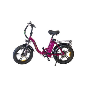 Folding Electric Bike Green Bike USA - GB LOW STEP FAT TIRE 750W 15.6 Ah - Pink - electric bike