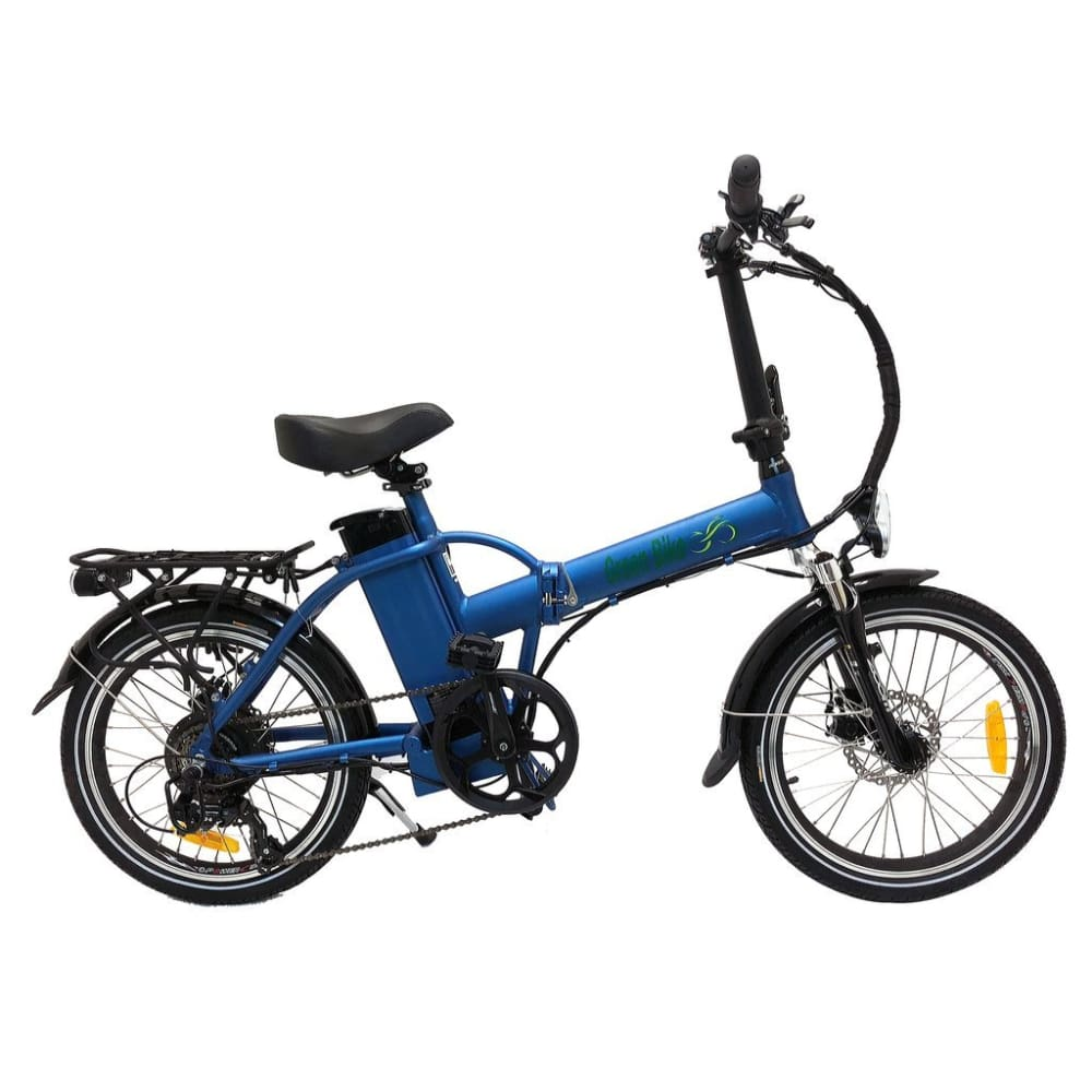 Folding Electric Bike Green Bike USA - GB1 - 500W 10Ah - Blue - electric bike