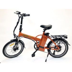 Folding Electric Bike Green Bike USA - GB1 - 500W 10Ah - Orange - electric bike