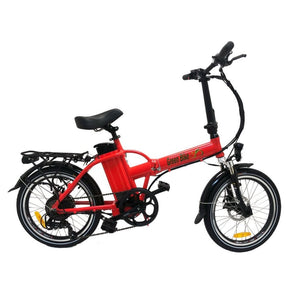 Folding Electric Bike Green Bike USA - GB1 - 500W 10Ah - Red - electric bike