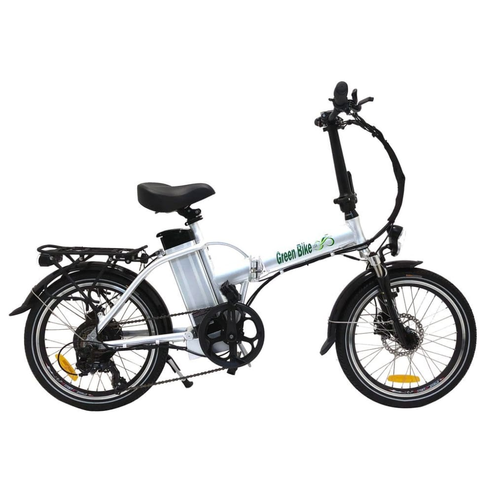 Folding Electric Bike Green Bike USA - GB1 - 500W 10Ah - White - electric bike