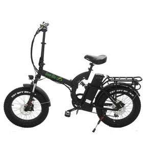 Folding Electric Bike Green Bike USA - GB750 Fat Tire - 750W 15.6 Ah - Black - electric bike