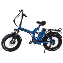 Folding Electric Bike Green Bike USA - GB750 Fat Tire - 750W 15.6 Ah - Blue - electric bike