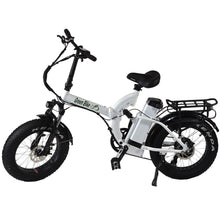 Folding Electric Bike Green Bike USA - GB750 Fat Tire - 750W 15.6 Ah - White - electric bike