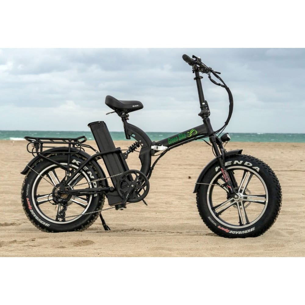 Folding Electric Bike Green Bike USA - GB750 MAG - 750W 20 Ah - Black - electric bike