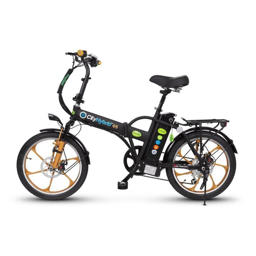 Folding Electric Bike GreenBike Hybrid HD 48V 350W - electric bike