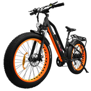Full Suspension Fat E-Bike Addmotor MOTAN M-450 P7 Electric Bike 750W - Orange / Black - electric bike