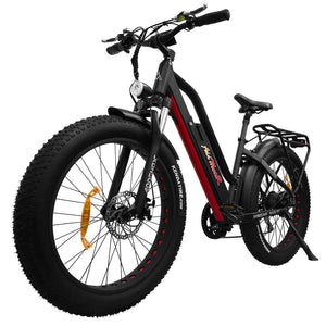 Full Suspension Fat E-Bike Addmotor MOTAN M-450 P7 Electric Bike 750W - Red / Black - electric bike
