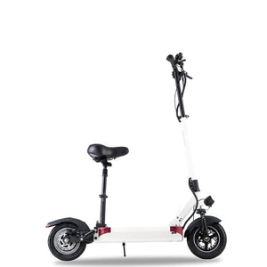 Long Range Electric Scooter - JOYOR F8S - 50.9 Miles (With Seat) - White - electric scooters