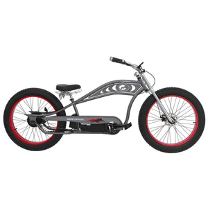 Electric Bike Fat Tire Micargi Cyclone 500W - Beach Cruiser Bike - Matte Grey With Red Rims - Electric Bike $2300.00