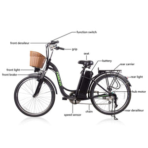 Electric Bike Nakto Camel 250W City Cruiser Women Bicycle - Camfw260001 - Electric Bike $649.00