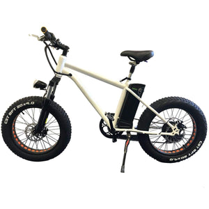 Electric Bike Fat Tire Nakto Mini Cruiser 300W 36V 10Ah- Crmxb200008 - White - Electric Bike $799.00