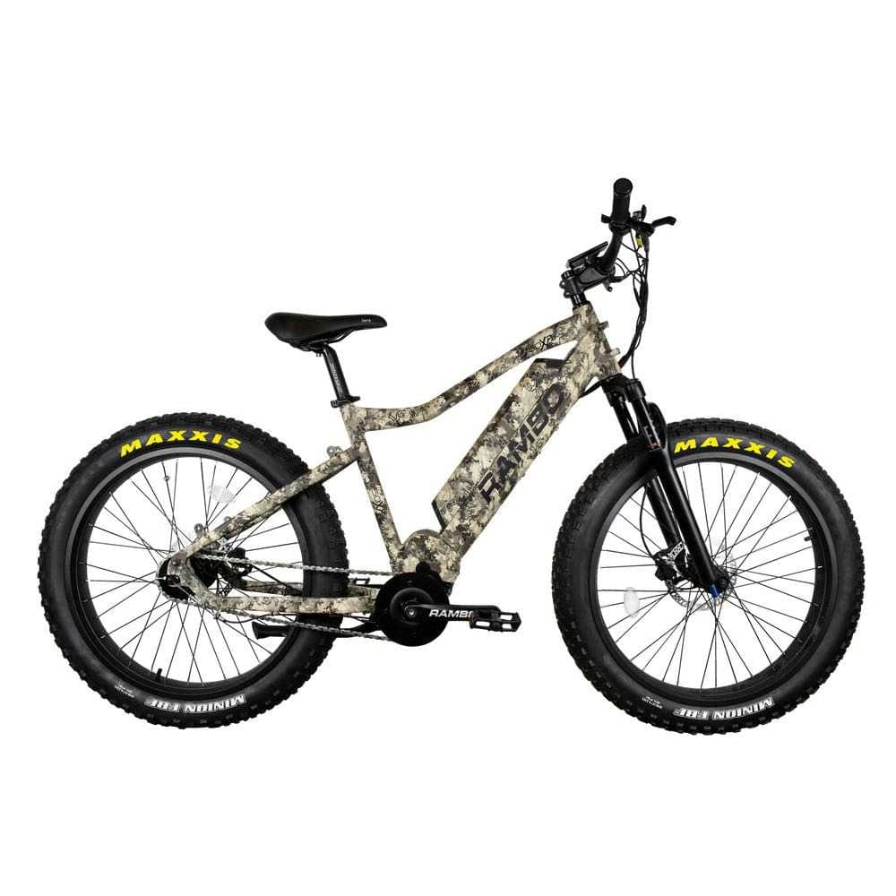 Rambo Bushwacker Electric Hunting Bike 750W XPC Truetimber - Front Suspension - electric bike