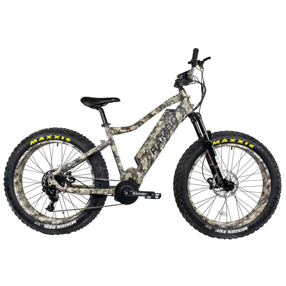 Rambo Rebel Electric Hunting Bike 1000W Carbon XPS - Front Suspension - Camo - electric bike