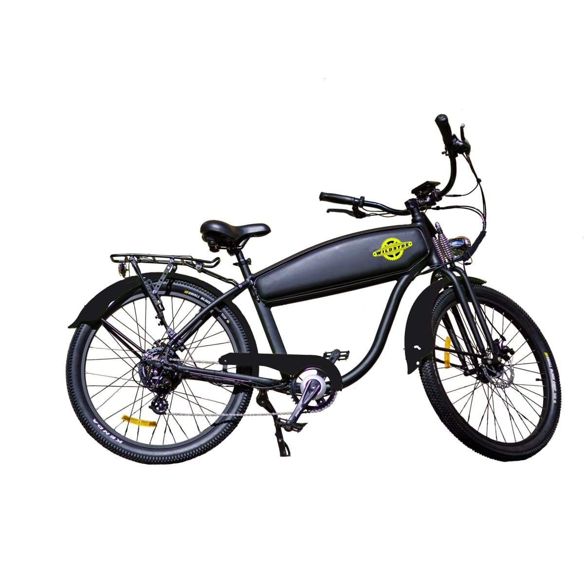 Electric Cruiser Bike Wildsyde Shadow 500W 36V (Pre-Order) - Black Matte - Electric Bike $2695.95