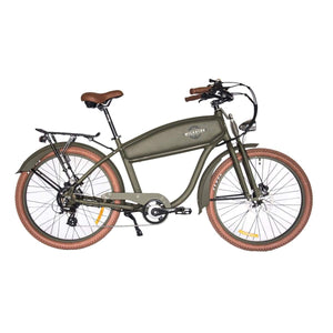 Electric Cruiser Bike Wildsyde Shadow 500W 36V (Pre-Order) - Olive - Electric Bike $2695.95