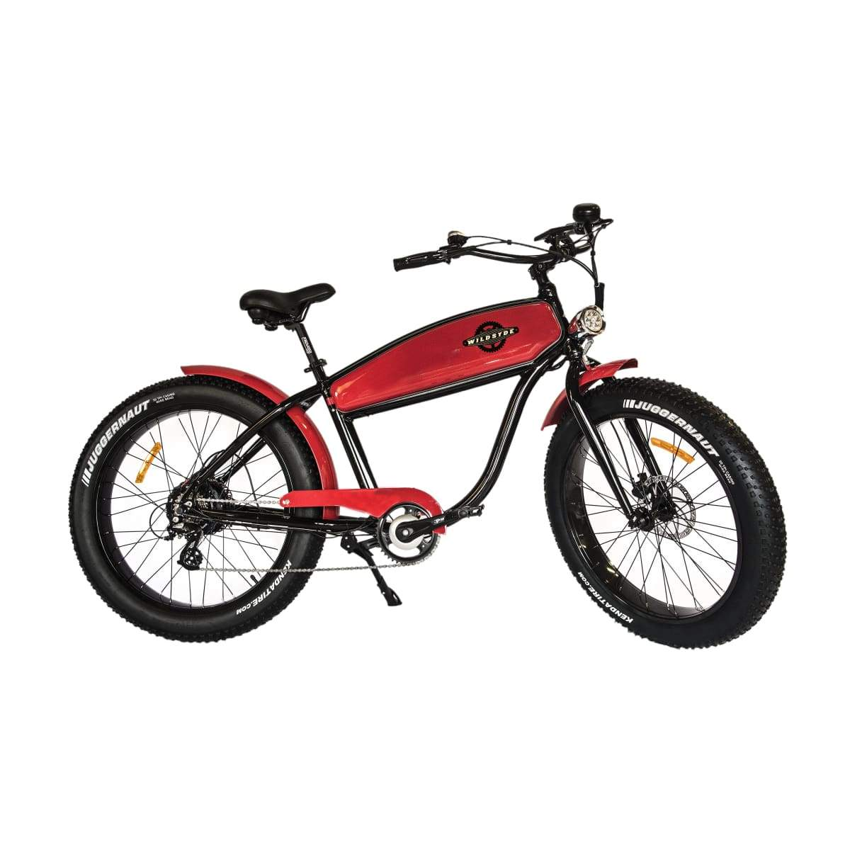 Electric Cruiser Bike Wildsyde The Beast 500W 36V (Pre-Order) - Black/red - Electric Bike $2999.95