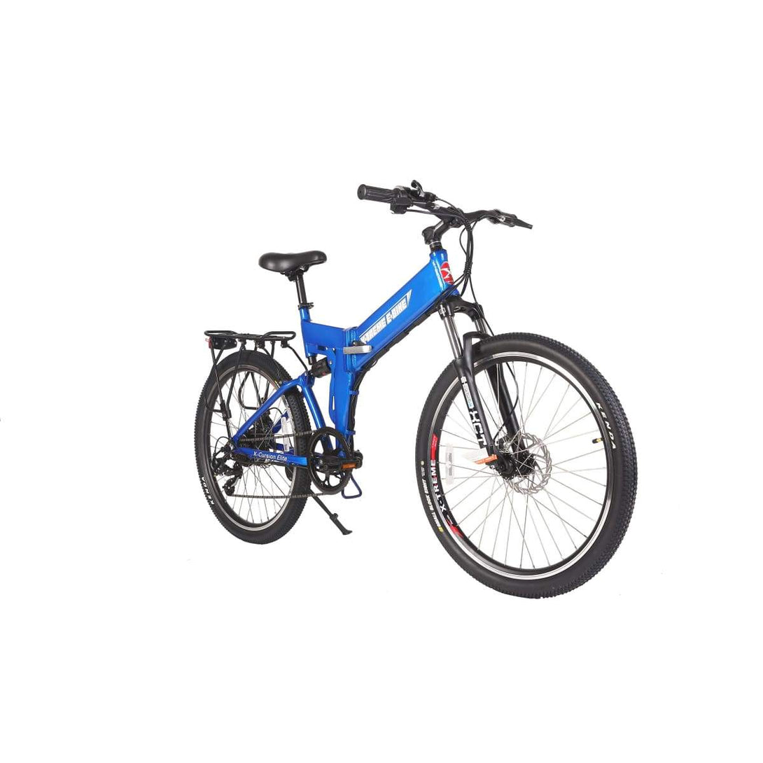 Electric Mountain Bike X-Treme X-Cursion Elite 300W Folding Ebike - Blue / 24V - Electric Bike $1007.00