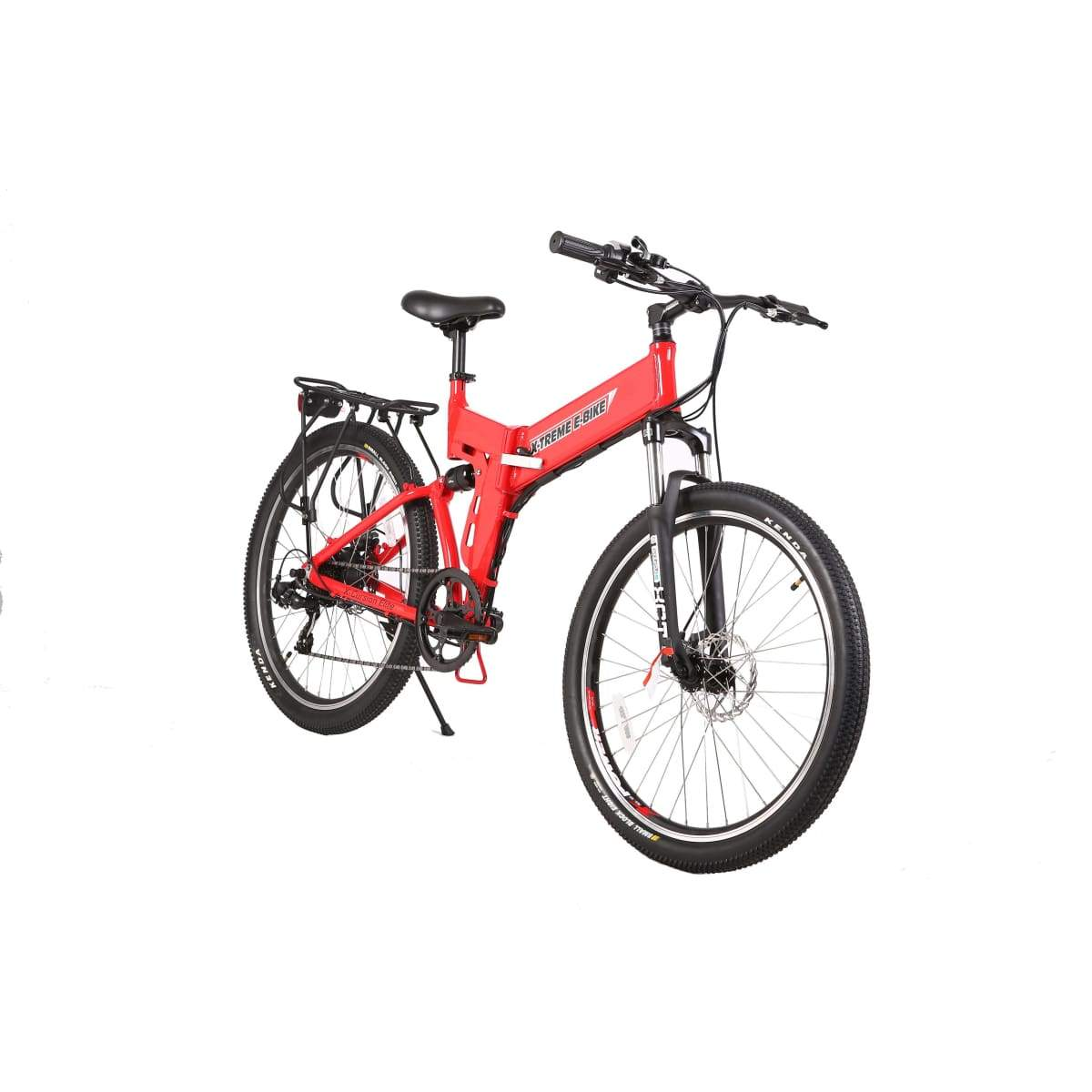 Electric Mountain Bike X-Treme X-Cursion Elite 300W Folding Ebike - Red / 24V - Electric Bike $1007.00