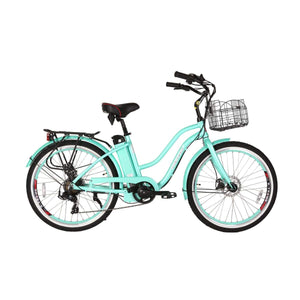 Electric Cruiser Bike X-Treme Malibu Elite 300W 36V - Teal / 36V - Electric Bike $1295.00