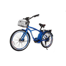 Electric Beach Cruiser Bike X-Treme Newport Elite 300W 24/36V - Metallic Blue - Electric Bike $1052.00