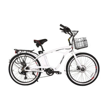 Electric Beach Cruiser Bike X-Treme Newport Elite 300W 24/36V - Metallic White - Electric Bike $1052.00