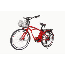 Electric Beach Cruiser Bike X-Treme Newport Elite 300W 24/36V - Red - Electric Bike $1052.00