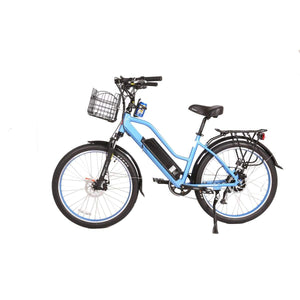Electric Cruiser Bike X-Treme Catalina 500W 48V - Step Thru Beach Cruiser Bike - Baby Blue - Electric Bike $1709.00