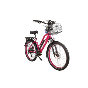 Electric Cruiser Bike X-Treme Catalina 500W 48V - Step Thru Beach Cruiser Bike - Pink - Electric Bike $1709.00