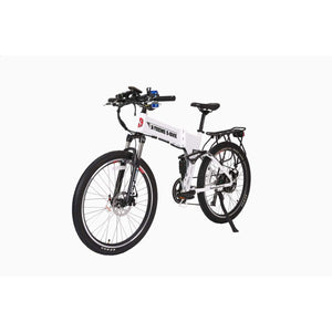 Electric Mountain Bike X-Treme Baja 500W 48V Folding Electric Bike - Metallic White - Electric Bike $1899.00