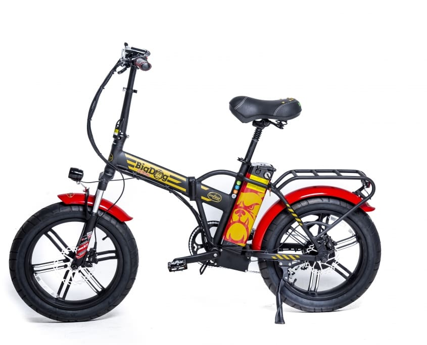 Fat Tire Folding Electric Bike GreenBike Big Dog Extreme 48V 750W