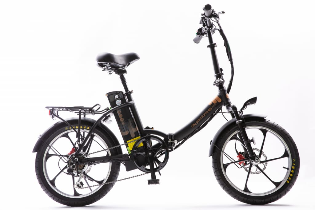 Folding Electric Bike Green Bike City Premium 48V 350W - Fat Tire (2020 Edition)